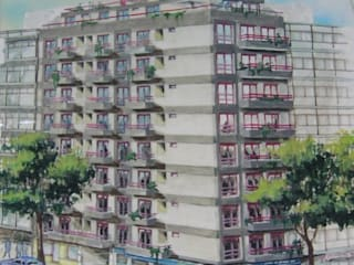 Edificio calle Laprida Casas modernas: Ideas, imágenes y decoración de Villazala-Elias Arquitectos Moderno