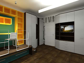 _ M o D u L a R _ Camera da letto moderna di Francesco Di Somma Study of Architecture & Design Moderno