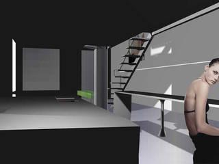Curtain Loft Cucina moderna di gianluca milesi architecture Moderno