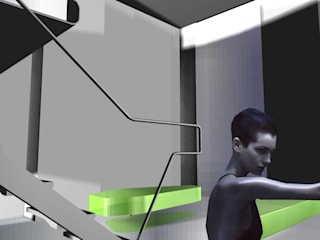 Curtain Loft Soggiorno moderno di gianluca milesi architecture Moderno