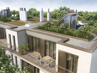 Luxuriöses Neubau-Ensemble SAM 31 in München Harlaching: moderne Häuser von Rosa-Alscher Gruppe