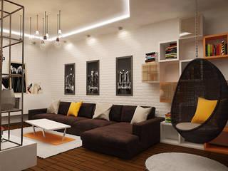 Гостиная Гостиная в стиле лофт от studio forma Лофт