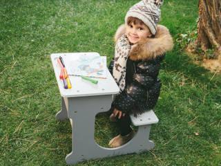 Conjunto de pupitre de madera y pizarra 3 en 1 Eurekakids Habitaciones infantilesEscritorios y sillas