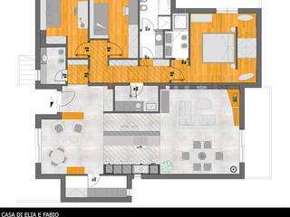 pianta arredo: Case in stile  di  claudia lucciola architetto