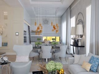 Eclectic style living room by KYD BURO Eclectic