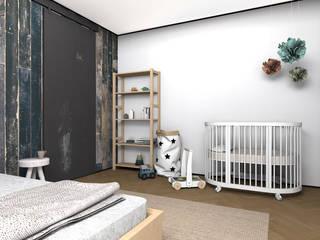 Dormitorios escandinavos de ИНТЕРЬЕР-ПРОЕКТ.РУ Escandinavo