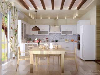 Cozinhas campestres por Студия интерьерного дизайна happy.design Campestre