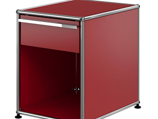 USM Haller Nachttisch, rubinrot:   von USM Möbelbausysteme