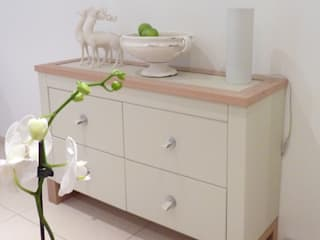 Leather fronted dresser: country  by Hide and Stitch, Country
