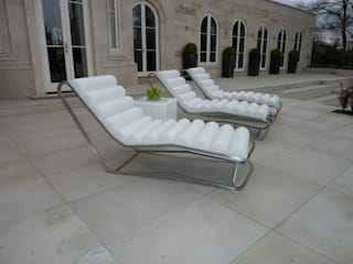 Outdoor Leather Loungers: modern  by Hide and Stitch, Modern