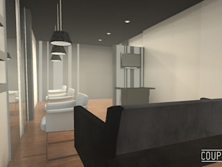 Espacio comercial-peluquería LORENA DOMINGO Oficinas y tiendas de estilo moderno de Coup de Grâce design & events Moderno