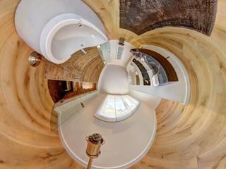 Tunnelpanorama einer Badausstattung Ausgefallene Badezimmer von 360° | PanoFoto-Franken Ausgefallen