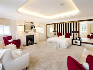 Fairways at the Bishops Avenue: modern Bedroom by Celia Sawyer Luxury Interiors