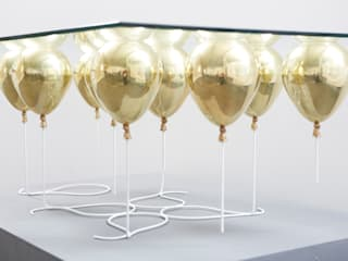 The Up Balloon Coffee Table gold:   by Duffy London