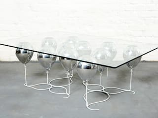 The Up Balloon Coffee Table silver by Duffy London