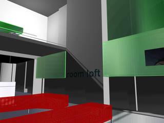 Room Loft Soggiorno moderno di gianluca milesi architecture Moderno