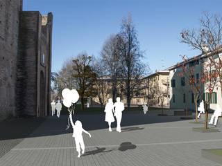 Piazza della Rocca a Pieve di Cento:  in stile  di dieci+quattro architettura