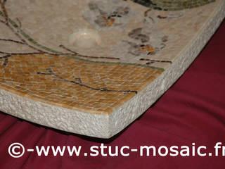 Vasque en marbre contemporaine:  de style  par Stuc Mosaic