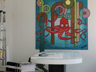 Décor en mosaique Art-Déco: Restaurants de style  par Stuc Mosaic