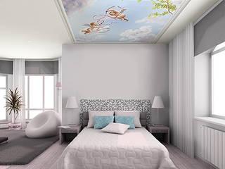 Papier peint pour plafond ciel et angelots:  de style  par Belmon Déco