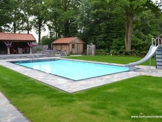 Wellness oase garten Rustikale Pools von RON Stappenbelt, Interiordesign Rustikal