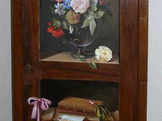 Trompe l'oeil su armadio:  in stile  di Farolfi Arte