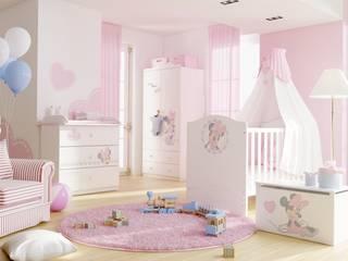 Babyzimmer Minnie Mouse: moderne Kinderzimmer von Möbelgeschäft MEBLIK