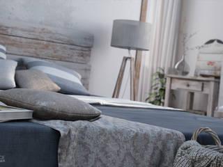 Rustic style bedroom by Vittorio Bonapace 3D Artist and Interior Designer Rustic