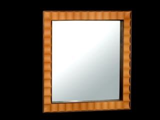 Walnut and boxwood mirror:   by Simon Harrison Furniture