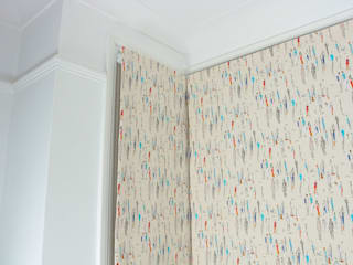 Roman Blinds- Fabric Sanderson Park Life:   by Tracey Andrews Interiors