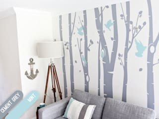 Birch Tree Forest wall sticker Vinyl Impression 壁&床壁の装飾