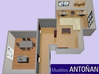 ZONIFICACIÓN DE ESTANCIAS DENTRO DE LA VIVIENDA:  de estilo  de Muebles Antoñán