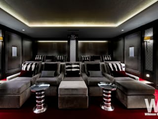 Basement Home Cinema Wilkinson Beven Design Salas multimedia eclécticas