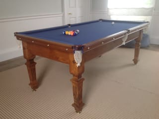 Restored antique snooker dining table: classic  by Brown's Antiques Billiards and Interiors, Classic