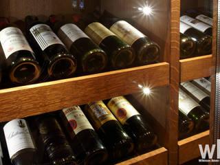 Wine Cellar Cave à vin originale par Wilkinson Beven Design Éclectique