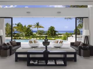 Modern Caribbean Villa Moderne Wohnzimmer von Wilkinson Beven Design Modern