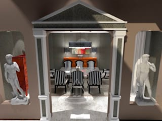 Salón y comedor de mansión / Living & Dining Room mansion Casas de estilo ecléctico de Julia Design Ecléctico