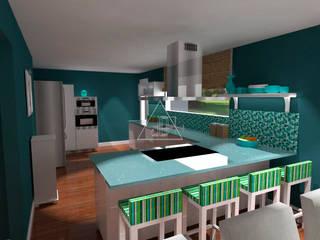 Proyecto estancia vacacional / Summer Home Project / Hamptons Style: Casas de estilo  de Julia Design