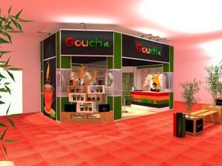 Stand para recinto ferial / Stand for trade fair: Oficinas y Tiendas de estilo  de Julia Design