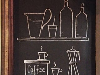 Blackboard Wall: Cucina in stile in stile Eclettico di Arch&G