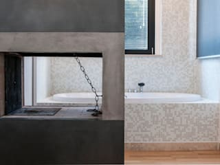 Fabricamus - Architettura e Ingegneria モダンスタイルの寝室