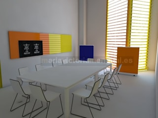 Espacio de trabajo para empresa audio-visual Oficinas y tiendas de estilo industrial de MUMARQ ARQUITECTURA E INTERIORISMO Industrial