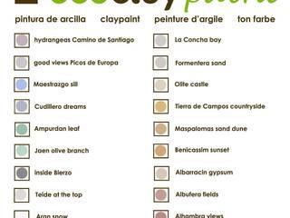 carta de colores pinturas de arcilla ecoclay:  de estilo  de ecoclay