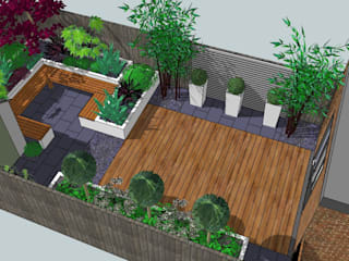 Contemporary Design For Small Back Garden: Modern Garden By Bea Ray Garden  Design Ltd. Small London Garden Design