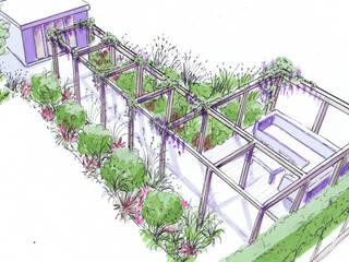 Stylish Country Garden Modern garden by Bea Ray Garden Design Ltd Modern