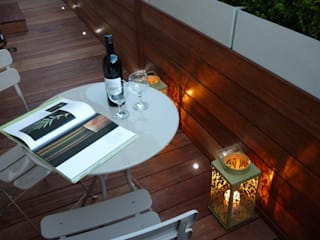 Roof terrace 2 Balcony, veranda & terrace by Paul Newman Landscapes