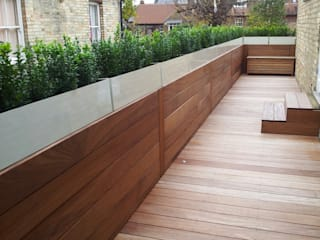 Roof terrace 2 Balcony, Veranda and Terrace by Paul Newman Landscapes