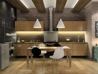 Cocina cosmopolitan:  de estilo  de AC Studio
