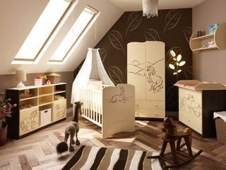 Babyzimmer Mustang: moderne Kinderzimmer von Möbelgeschäft MEBLIK