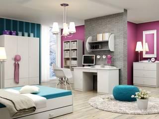 Kinderzimmer Nordic: moderne Kinderzimmer von Möbelgeschäft MEBLIK